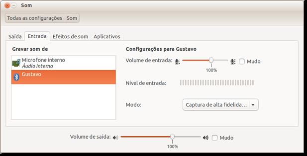 Configuração de áudio do Ubuntu